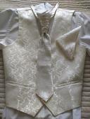 Svatební set pro ženicha - vestičky, kravat a kape, 40