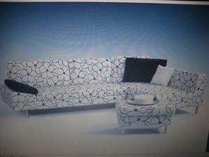 tahle sedačka se mi líbí, ale jiný potah