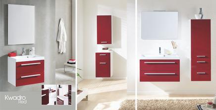 Koupelnový nábytek Elita, série Kwadro Red