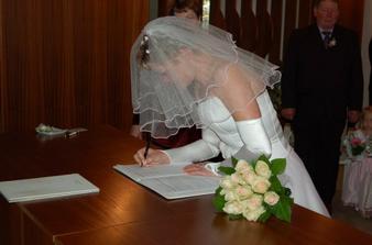 Podpis nevěsty.............
