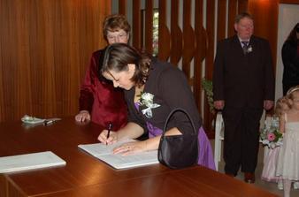 Podpis svědkyně nevěsty........