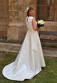 Champagne svatební šaty vel. M, 40