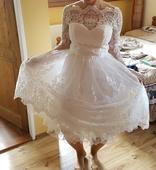 Krátké krajkové šaty UK10 EUR 38, 38