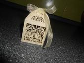 Svatební krabičky na mandličky-dvě hrdličky,