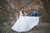 Svadobné šaty na mieru so závojom+popolnočné šaty , 36