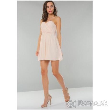 Krátke šaty bez ramienok - Obrázok č. 1