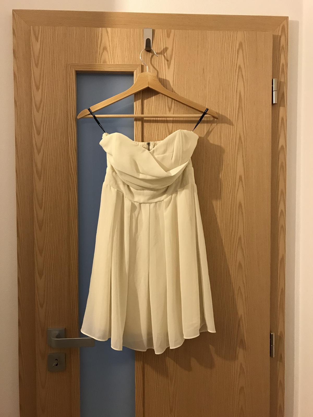 Krátke šaty bez ramienok - Obrázok č. 2