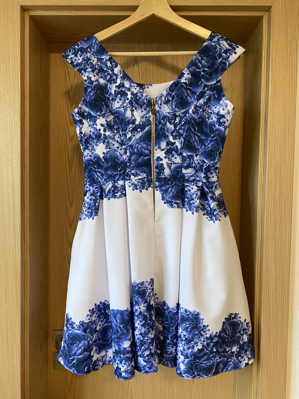 Modré spoločenské šaty - Obrázok č. 2