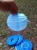 Malé lampiónky modré 7 ks a světle modré 2 ks,