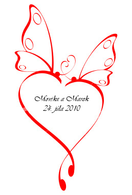 Monika a Marek     24.7.2010 - etiketa na výslužkové víno...tiež ČB