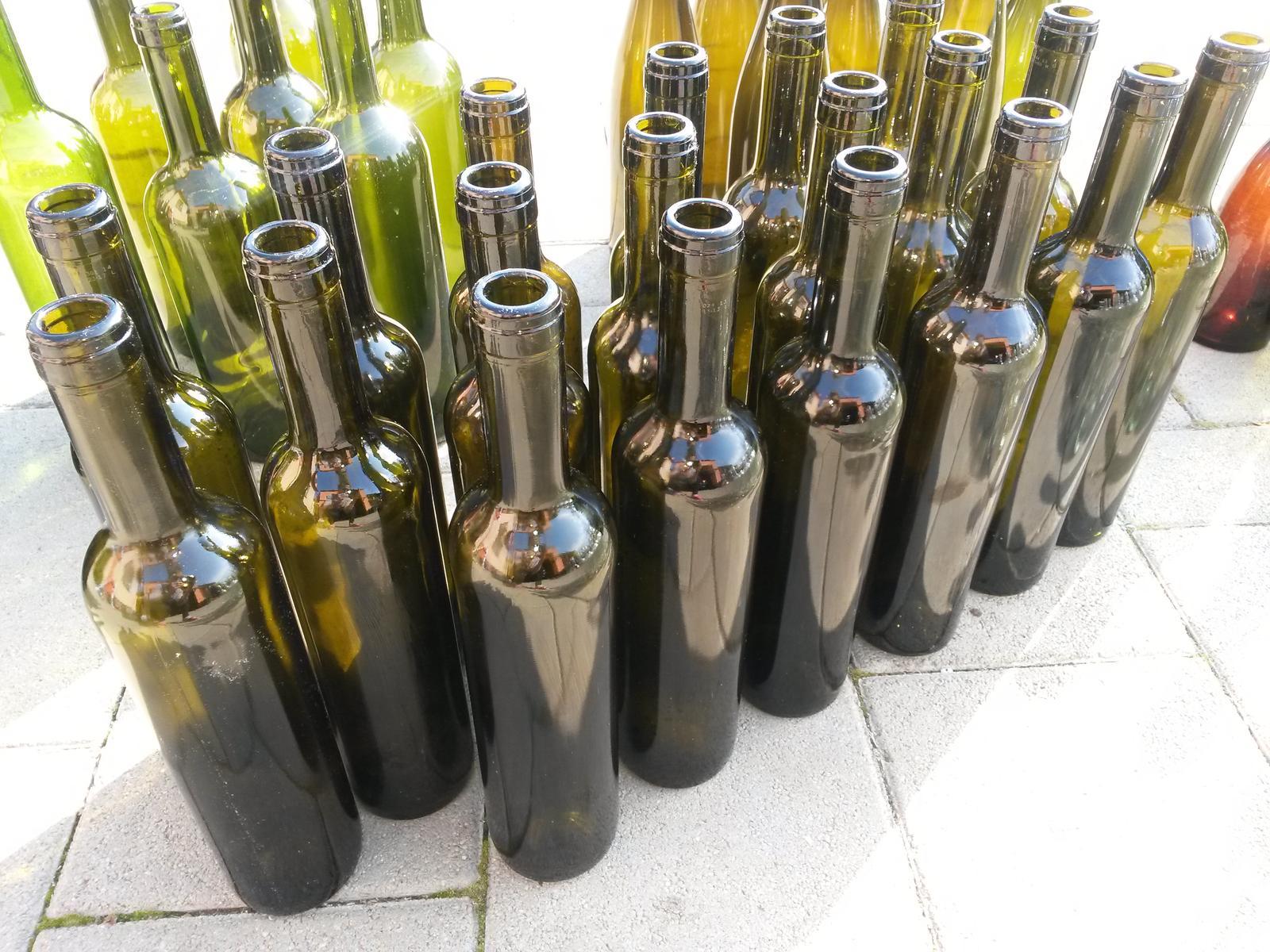 Fľaše sklenené - Obrázok č. 1