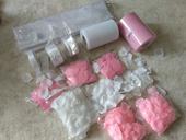 Set růžová-bílá,