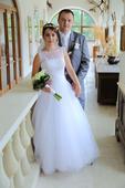Svadobné šaty veľkosť 38-40, 38