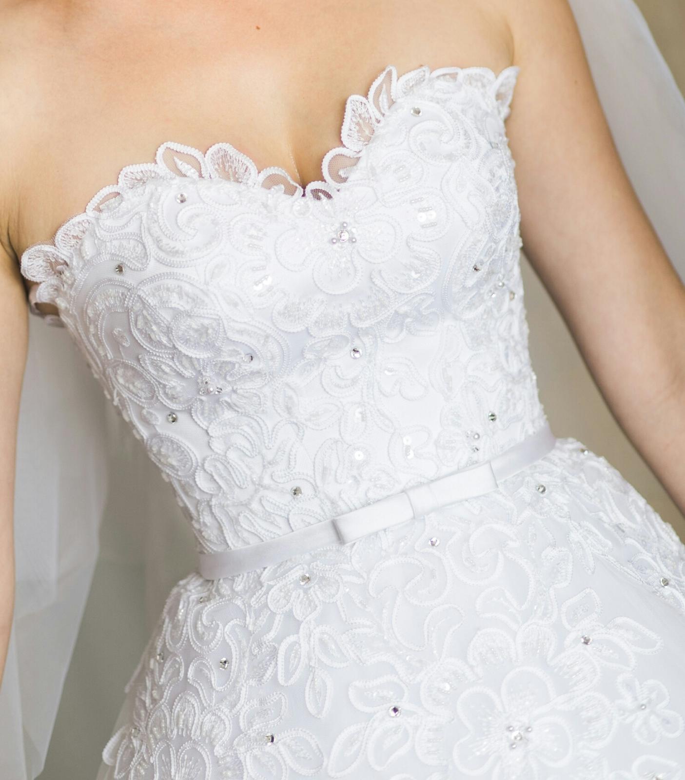 Svadobné šaty 34-36 - Obrázok č. 3