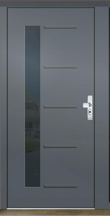 Dům do L - stavba 2020/2021 - Vchodové hliníkové dveře GAVA plast - Gava Aluminium 526