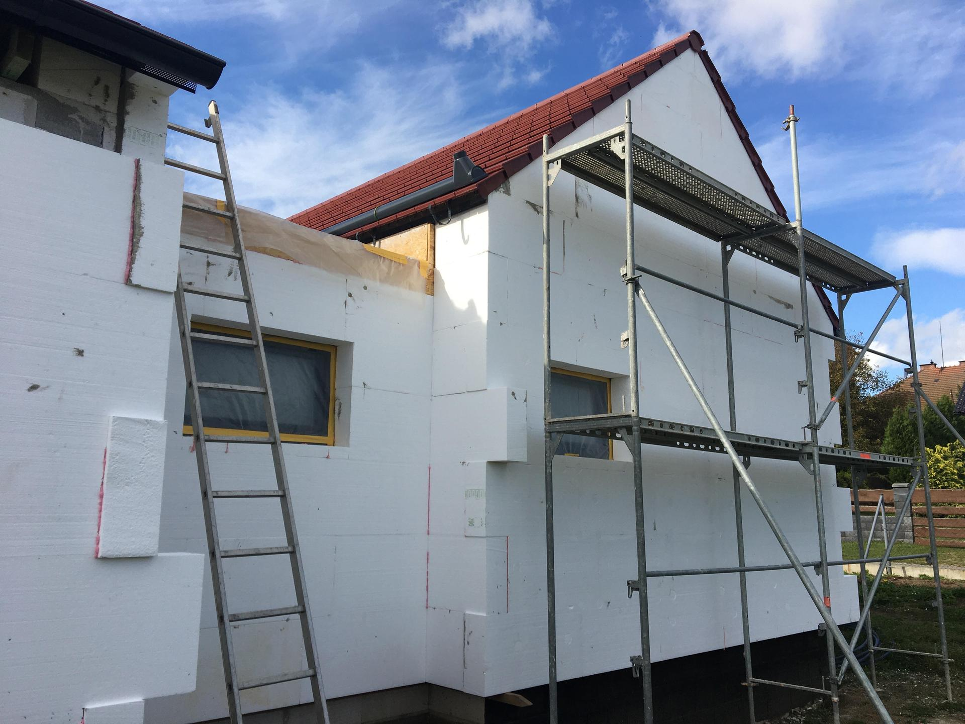 Dům do L - stavba 2020/2021 - Zateplujeme vol. 2