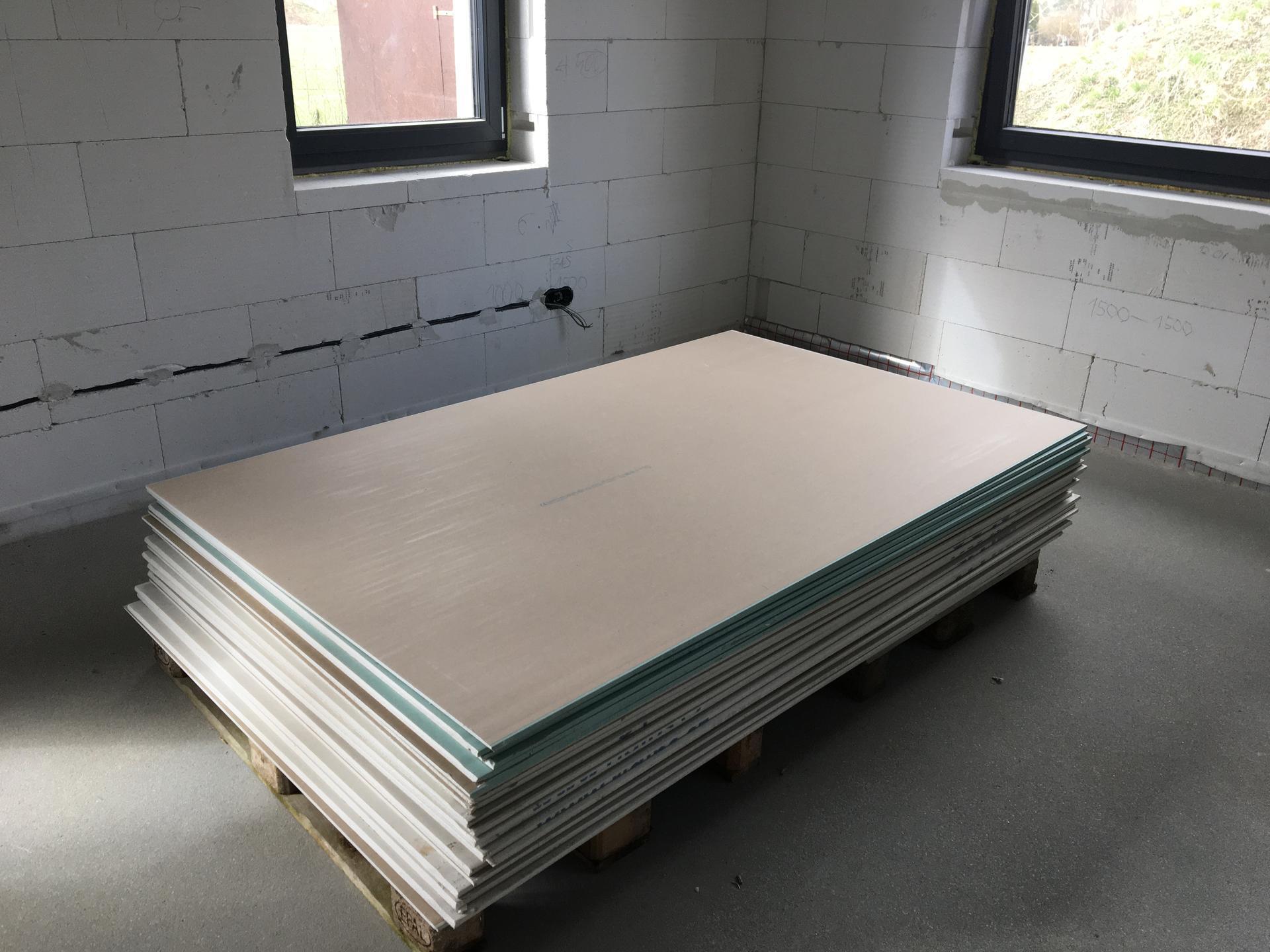 Dům do L - stavba 2020/2021 - Březen ve znamení sádrokartonů