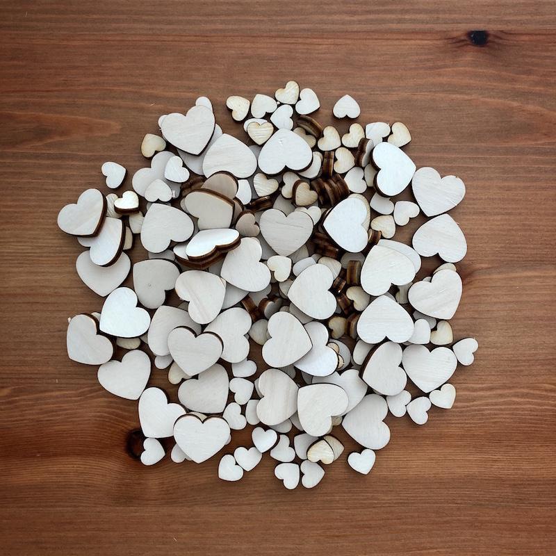 Dřevěná srdíčka (různé tvary) - Obrázek č. 2