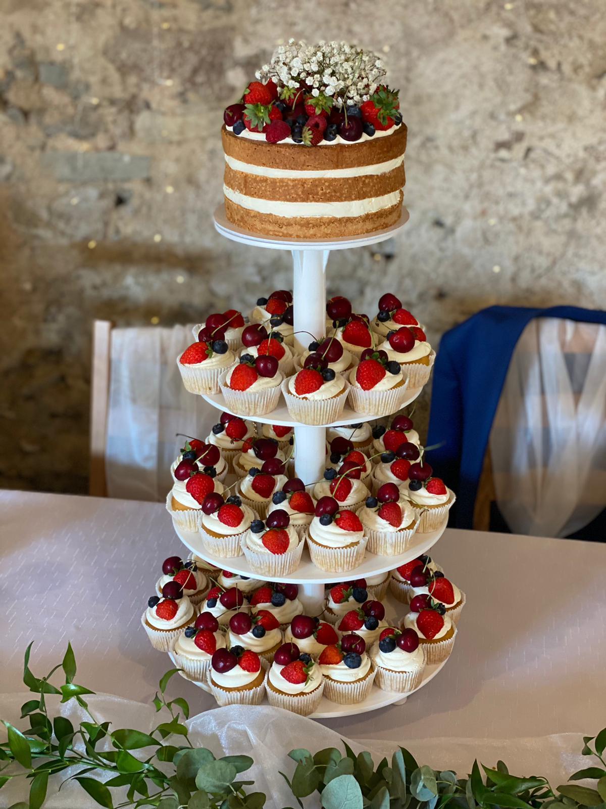 Etažér na svatebni dort či sweet bar - Obrázek č. 1