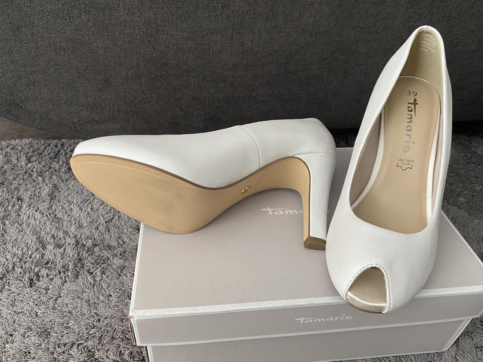 Predám krásne kožené nové topánky Tamaris - Obrázok č. 1