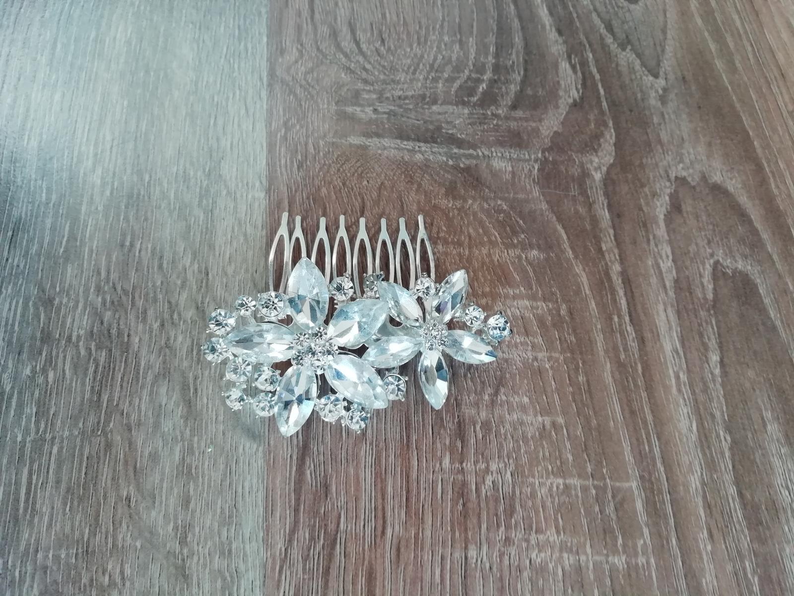Štrasový hřebínek do vlasů - Obrázek č. 1