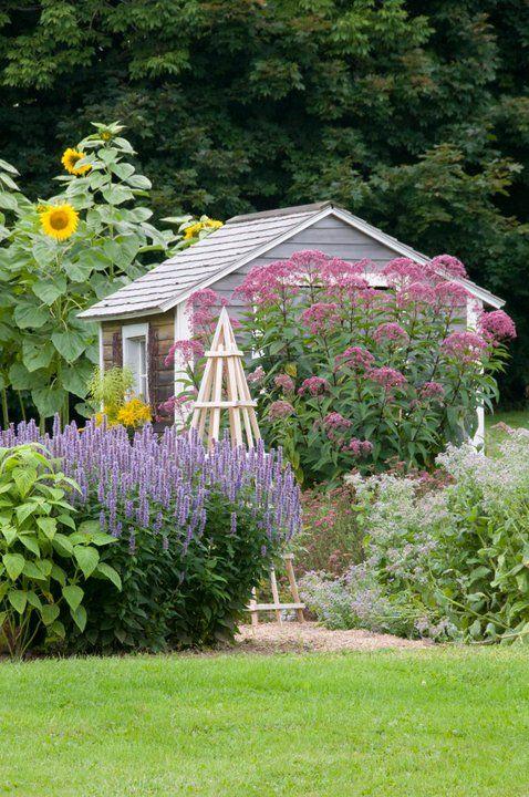 Zahrada - inspirace - Ten obelisk na popínavky .... jééééé ....