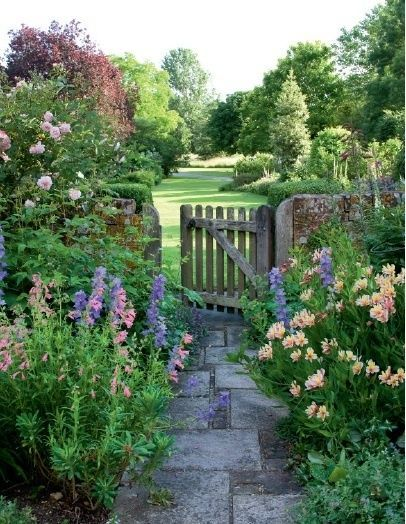 Zahrada - inspirace - denivky, ostrožky a růže