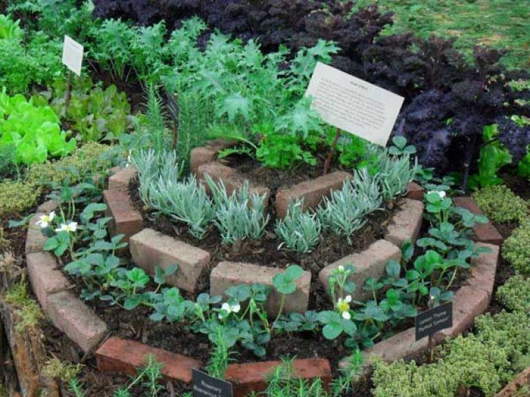 Zahrada - inspirace - cihel máme dost, tak se asi taky pokusím o něco takového, možná už letos :-)