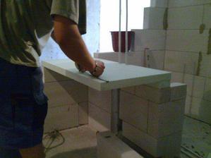 príprava podkladu pre umývadlo