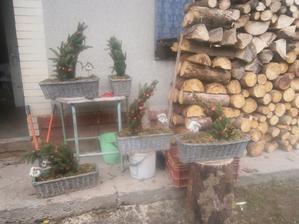 příprava na vánoční výzdobu oken, zatím jsou schované :-)