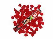 Vystreľovacie confetti - Lupienky ruží (bordové) ,