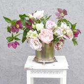 Mosadzné nádoby na kvetinové aranžmány (prenájom),