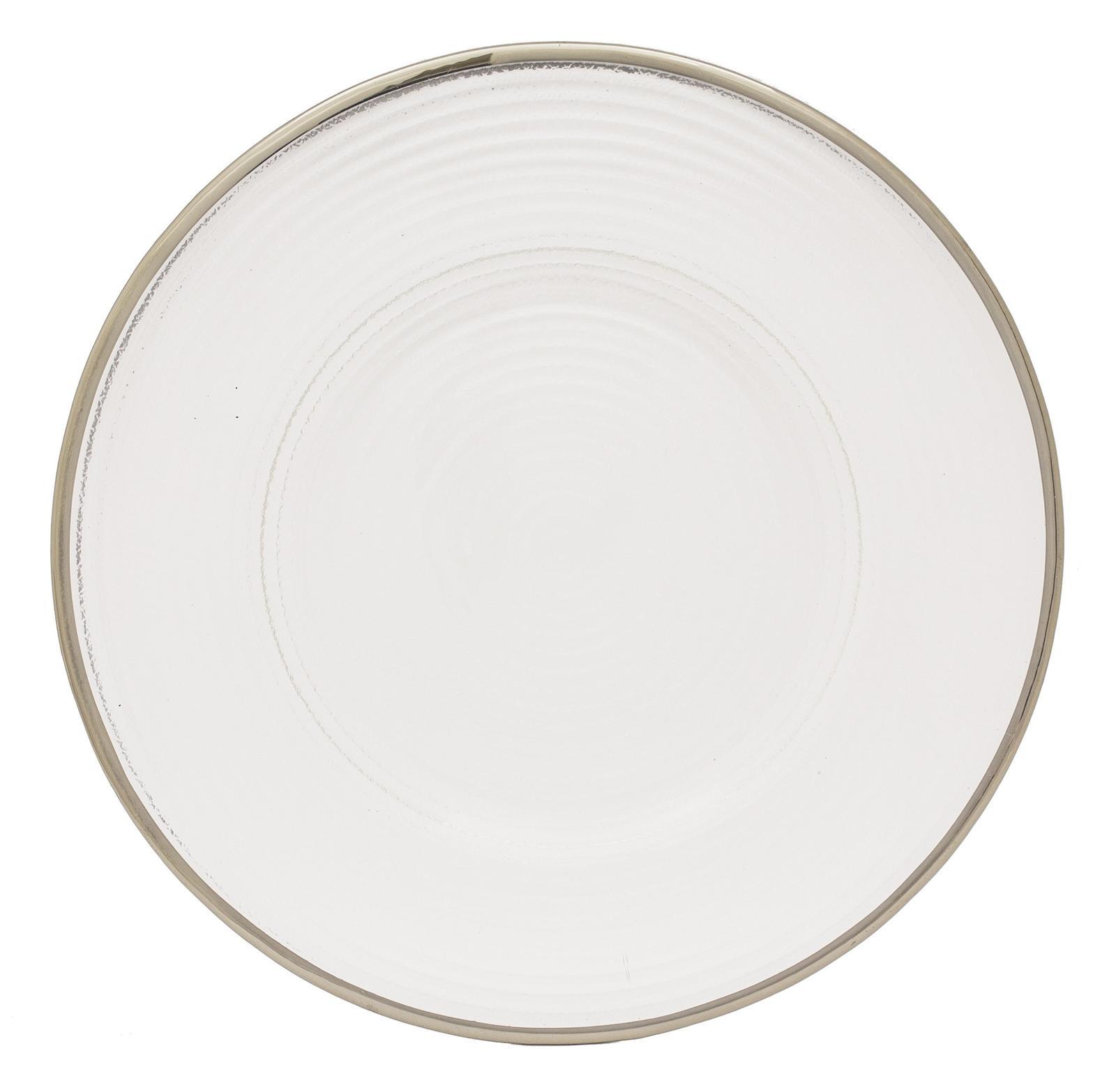 Klubové taniere so strieborným lemom (prenájom) - Obrázok č. 1