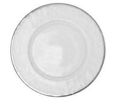 Klubový tanier so strieborným lemom - hladký - Obrázok č. 1