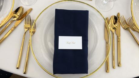 Luxusné klubové taniere so zlatým lemom - Obrázok č. 1
