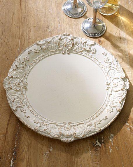 Drevene klubové taniere antique (prenájom) - Obrázok č. 1