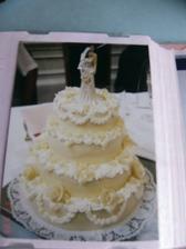 Svatební dortík - 4patrový- kokosový