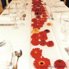 Něco takového si představuju na svatební stůl, ale s bílýma chryzanténkama