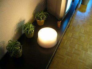naše mega svíčka.... po půl roce skoro každodenního vypalování se drží :-)