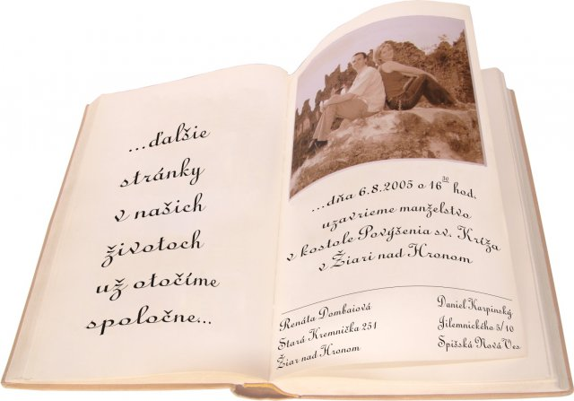 6.8.2005 - detailnejsie - Svadobne oznamenie - vlastna myslienka
