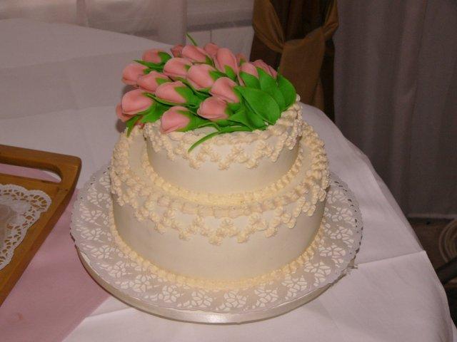 6.8.2005 - detailnejsie - Svadobna torta