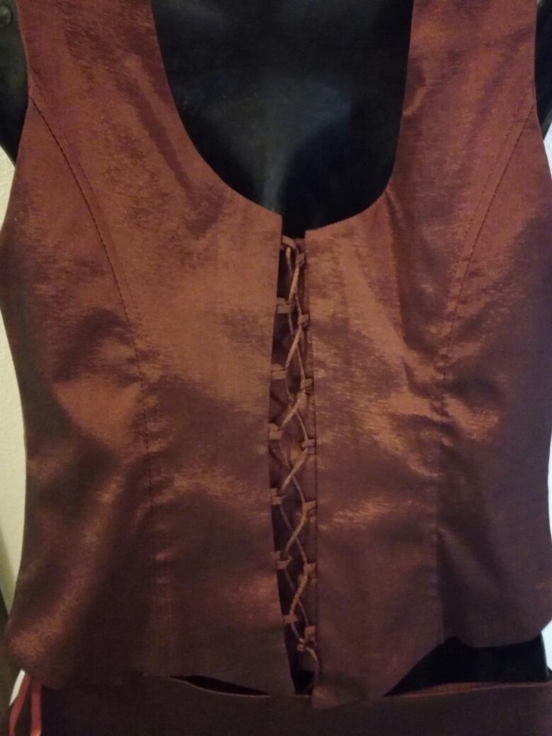 Vínovočervené šaty, veľ. 38 - Obrázok č. 3