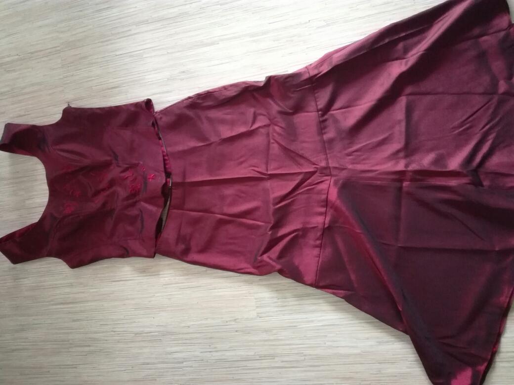 Vínovočervené šaty, veľ. 38 - Obrázok č. 4