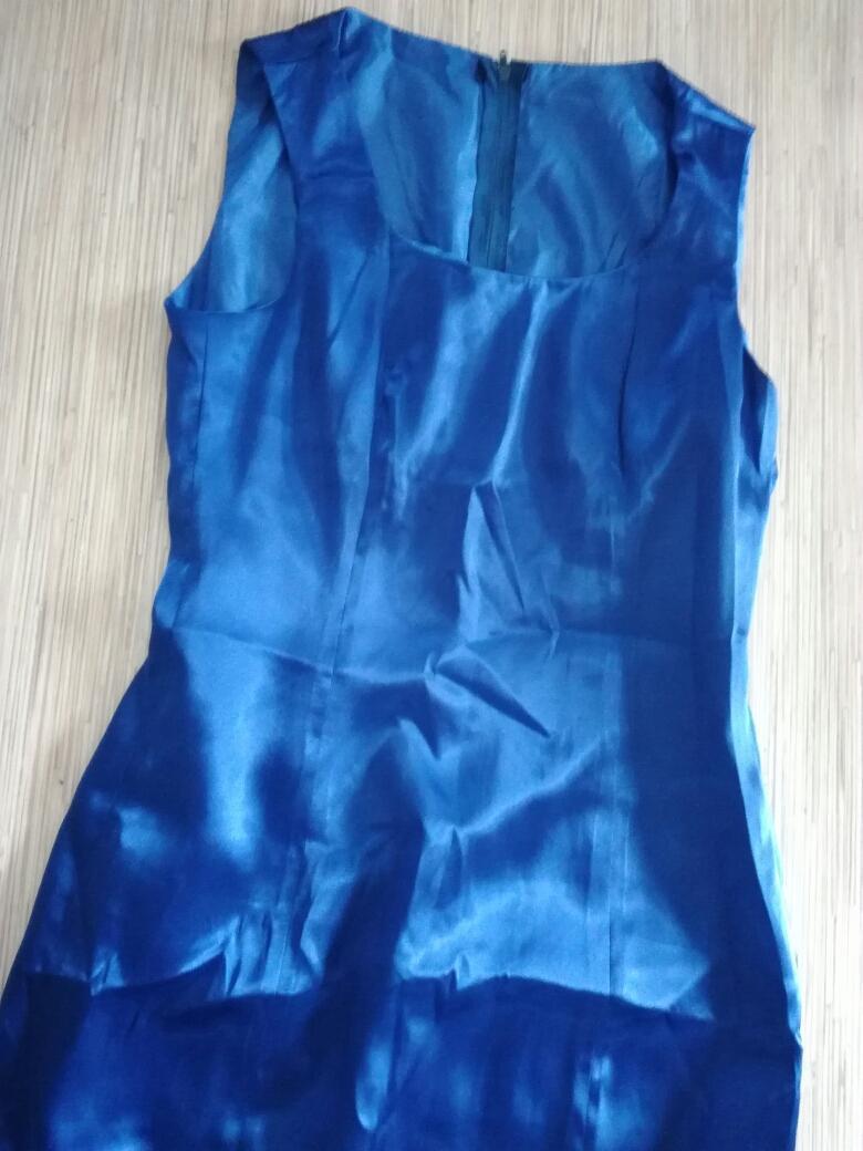 Modré spoločenské šaty, aj ako popolnočné svadobné, veľ. 38 - Obrázok č. 1