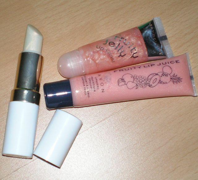 2 lesky a rúž-balzam - Maybelline,Avon -cena spolu - Obrázok č. 1