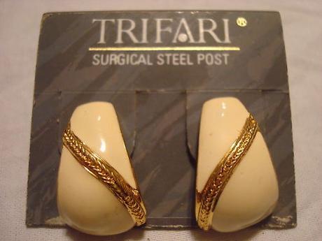 vintage náušnice Trifari - Obrázok č. 1