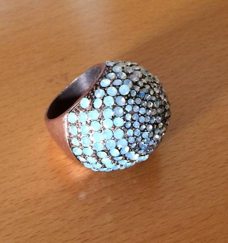 velky trblietavý koktejlový prsten MNG Touch - Obrázok č. 1