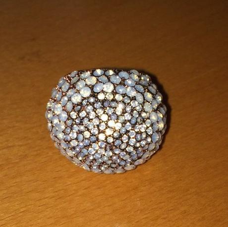 velky trblietavý koktejlový prsten MNG Touch - Obrázok č. 4
