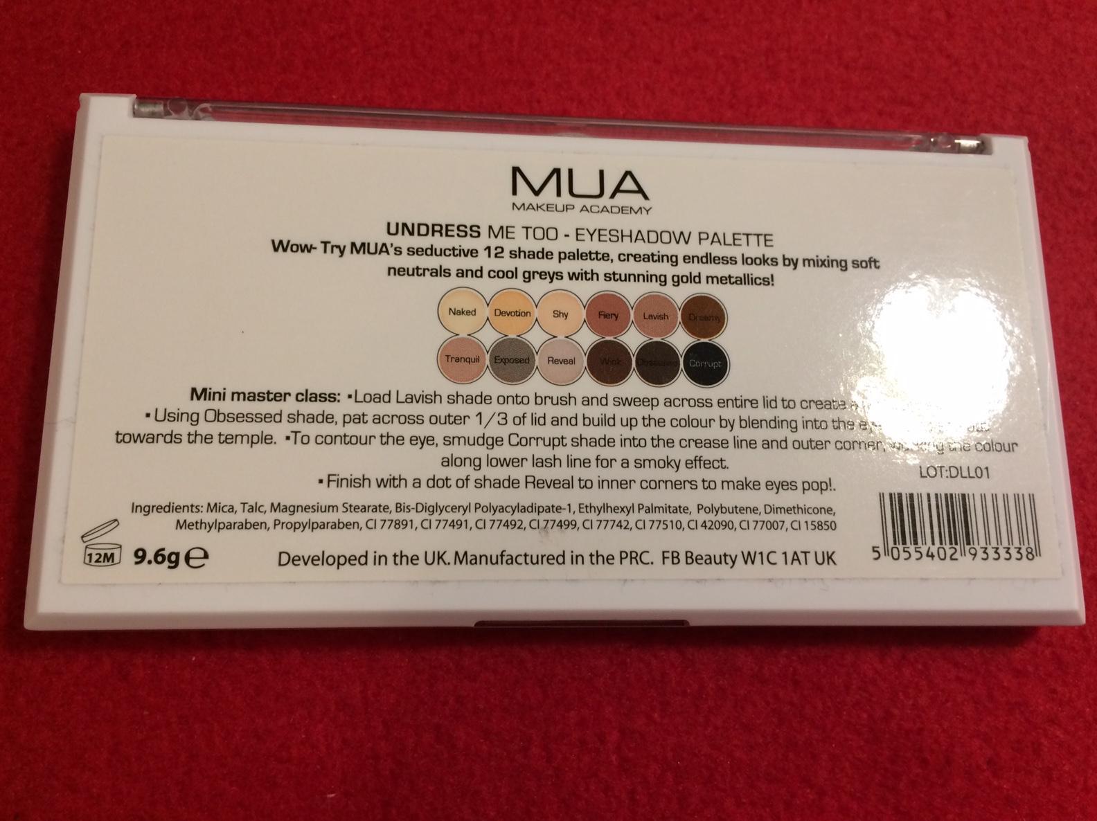 paleta 12 očných tieňov MUA - Obrázok č. 3