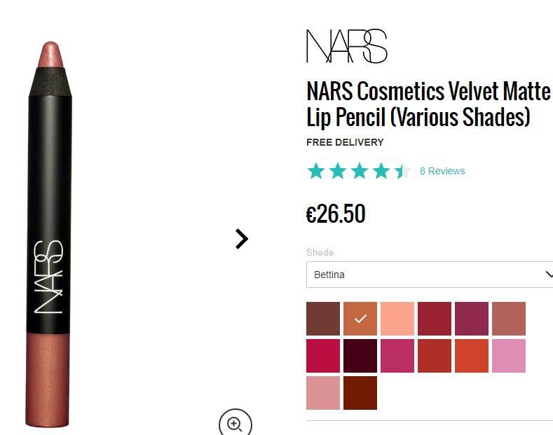 NARS - rúž Velvet Matte lip pencil  - Obrázok č. 3